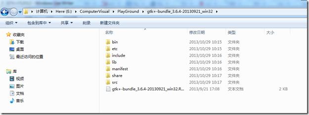 gtk+-bundle_3.6.4-20130921_win32.zip 解压
